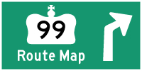 HWY 99 ROUTE MAP - © Cameron Bevers