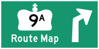 HYPERLINK TO HWY 9A ROUTE MAP PAGE - © Cameron Bevers