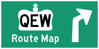 QEW ROUTE MAP - © Cameron Bevers