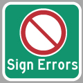 Hyperlink to Ontario Highway Sign Errors Page