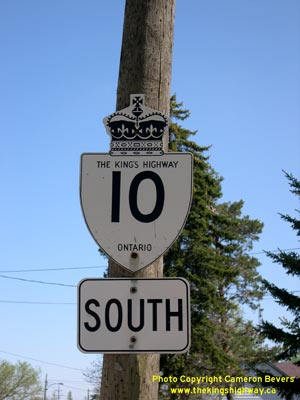 HWY 10 ROUTE MARKER - © Cameron Bevers