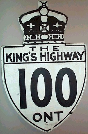 HWY 100 ROUTE MARKER - © Cameron Bevers