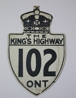 HWY 102 ROUTE MARKER - © Cameron Bevers