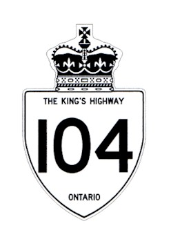 HWY 104 ROUTE MARKER