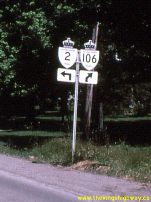 HWY 106 ROUTE MARKER