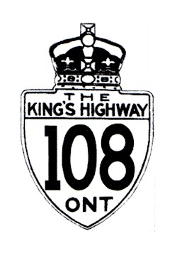 HWY 108 ROUTE MARKER