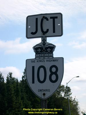 HWY 108 ROUTE MARKER - © Cameron Bevers