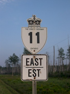 HWY 11 ROUTE MARKER - © Cameron Bevers