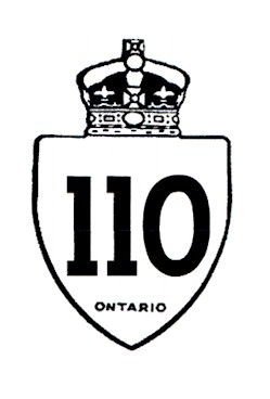 HWY 110 ROUTE MARKER