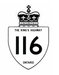 HWY 116 ROUTE MARKER