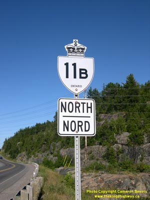 HWY 11B ROUTE MARKER - © Cameron Bevers