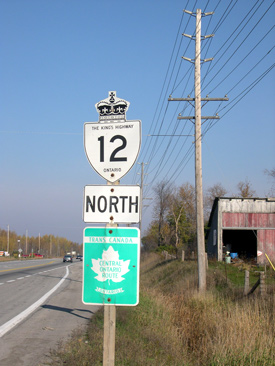 HWY 12 ROUTE MARKER - © Cameron Bevers