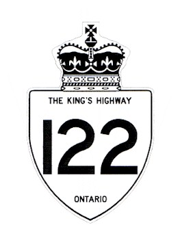 HWY 122 ROUTE MARKER