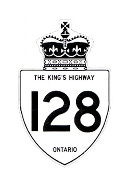 HWY 128 ROUTE MARKER