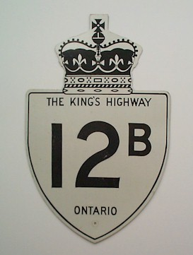 HWY 12B ROUTE MARKER - © Cameron Bevers