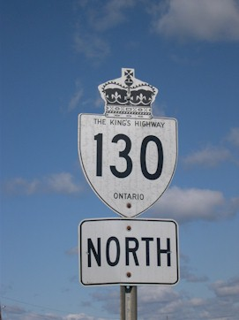 HWY 130 ROUTE MARKER - © Cameron Bevers