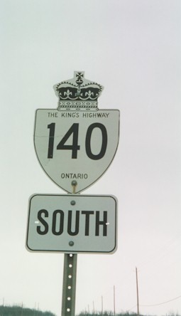 HWY 140 ROUTE MARKER - © Cameron Bevers
