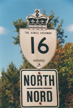 HWY 16 ROUTE MARKER - © Roger Fox
