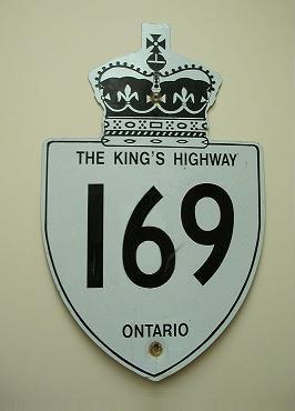 HWY 169 ROUTE MARKER - © Cameron Bevers