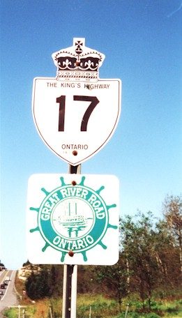 HWY 17 ROUTE MARKER - © Cameron Bevers