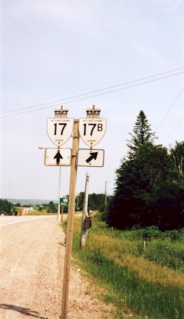 HWY 17B ROUTE MARKER - © Cameron Bevers