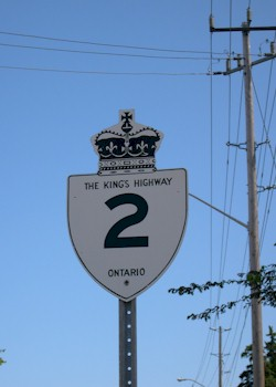 HWY 2 ROUTE MARKER - © Cameron Bevers