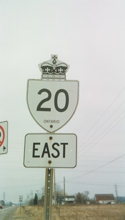 HWY 20 ROUTE MARKER - © Cameron Bevers