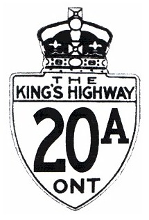 HWY 20A ROUTE MARKER
