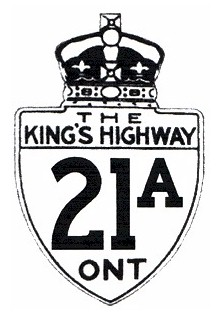 HWY 21A ROUTE MARKER