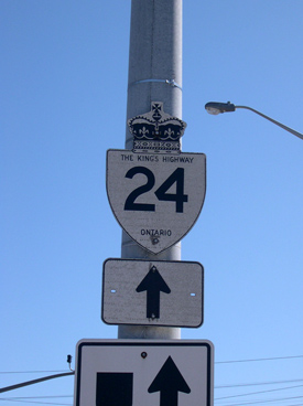 HWY 24 ROUTE MARKER - © Cameron Bevers