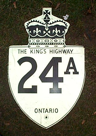 HWY 24A ROUTE MARKER - © Cameron Bevers