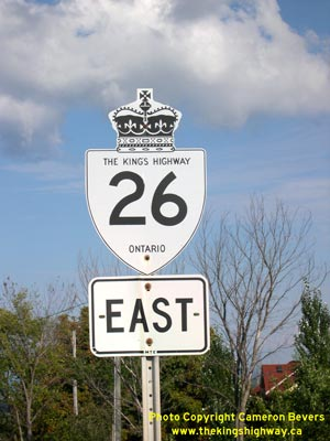 HWY 26 ROUTE MARKER - © Cameron Bevers