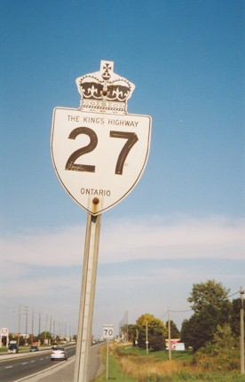 HWY 27 ROUTE MARKER - © Cameron Bevers