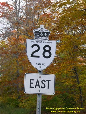 HWY 28 ROUTE MARKER - © Cameron Bevers