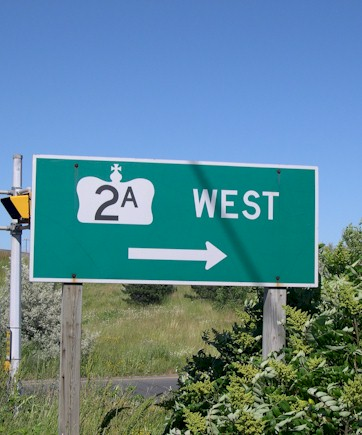 HWY 2A ROUTE MARKER - © Cameron Bevers