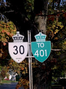 HWY 30 ROUTE MARKER - © Cameron Bevers