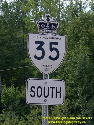 HWY 35 ROUTE MARKER - © Cameron Bevers