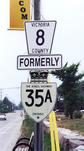 HWY 35A ROUTE MARKER - © Cameron Bevers