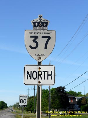 HWY 37 ROUTE MARKER - © Cameron Bevers