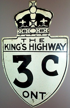 HWY 3C ROUTE MARKER - © Cameron Bevers