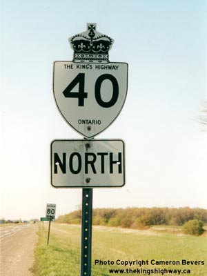 HWY 40 ROUTE MARKER - © Cameron Bevers