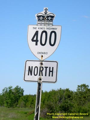 HWY 400 ROUTE MARKER - © Cameron Bevers