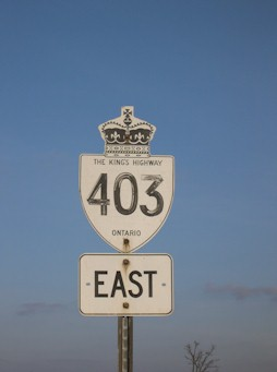 HWY 403 ROUTE MARKER - © Cameron Bevers