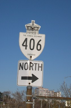 HWY 406 ROUTE MARKER - © Cameron Bevers