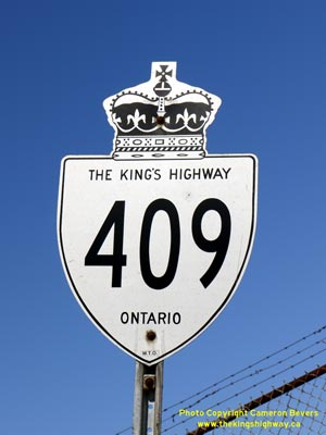 HWY 409 ROUTE MARKER - © Cameron Bevers