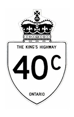 HWY 40C ROUTE MARKER
