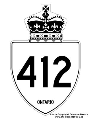 HWY 412 ROUTE MARKER - © Cameron Bevers