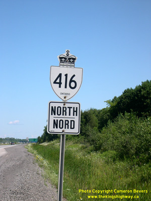 HWY 416 ROUTE MARKER - © Cameron Bevers