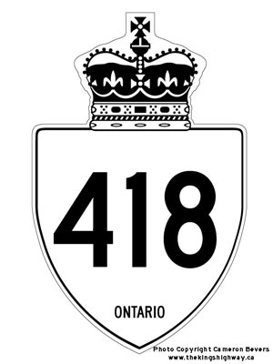 HWY 418 ROUTE MARKER - © Cameron Bevers