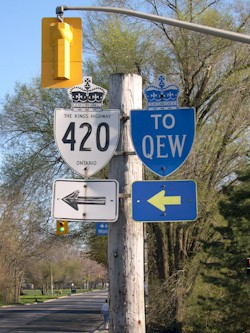 HWY 420 ROUTE MARKER - © Cameron Bevers
